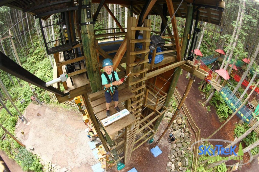 Revelstoke attraction: the Sky Drop @ SkyTrek Adventure Park, BC