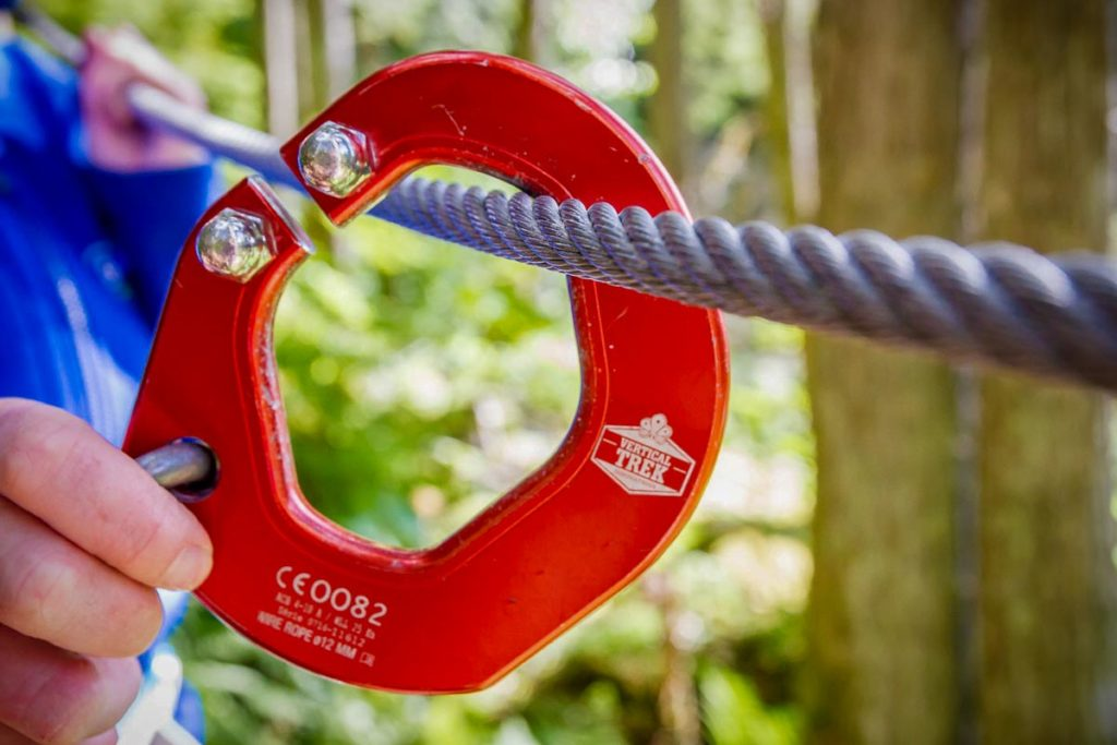 "The Vertical Trek continuous belay system allows participants to simply ""click and trek"""