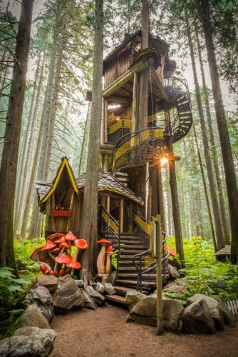The tallest Treehouse in Canada @ The Enchanted Forest, just outside Revelstoke, BC