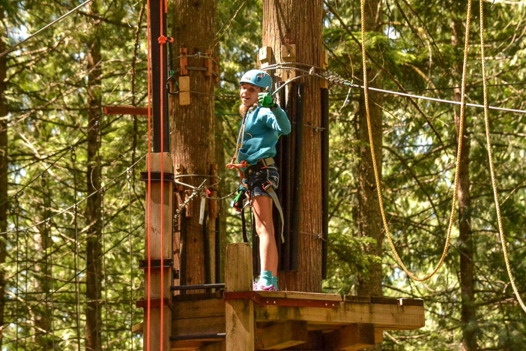 Stoked to finish the double black Sky Course @ SkyTrek Adventure Park! Can you challenge yourself to complete the whole course too?