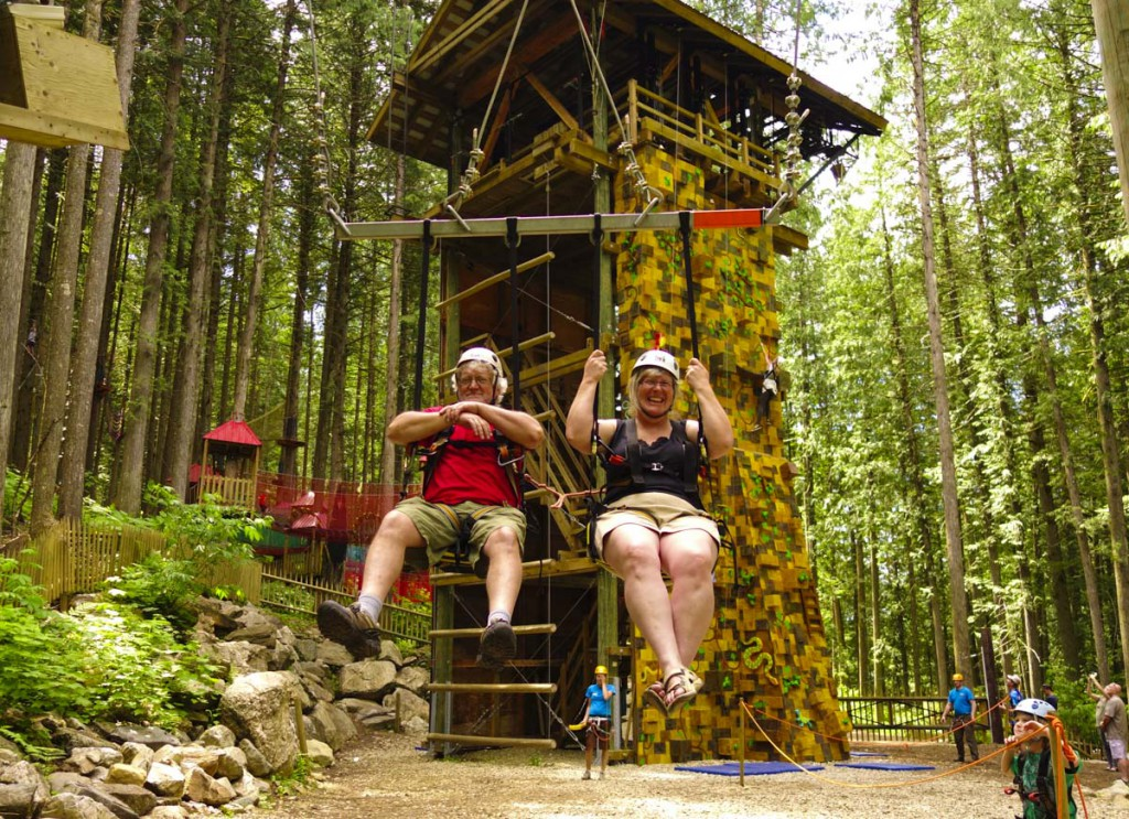 Revelstoke attraction: the Sky Swing @ SkyTrek Adventure Park, BC