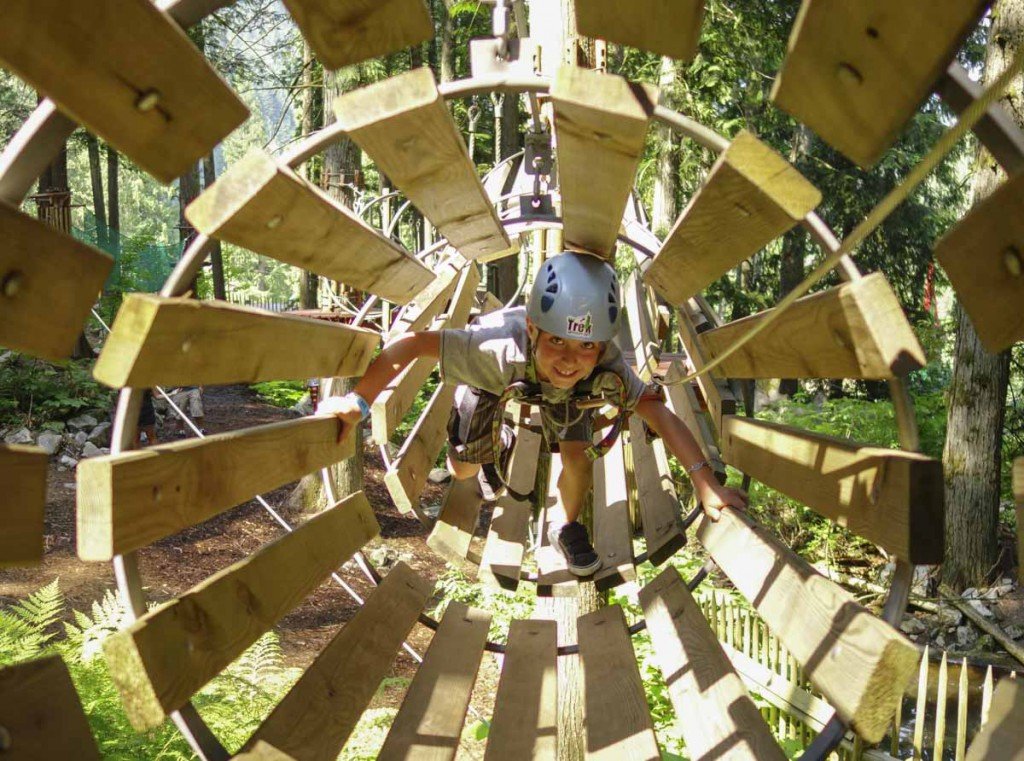 Revelstoke attraction: the Kids Tree Adventure course @ SkyTrek Adventure Park, BC