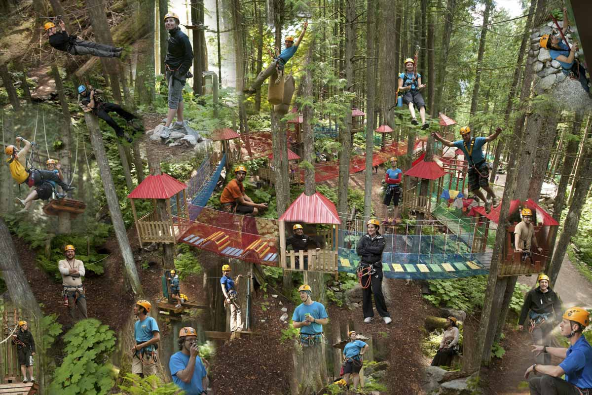 The Team Skytrek Adventure Park Revelstoke Bc