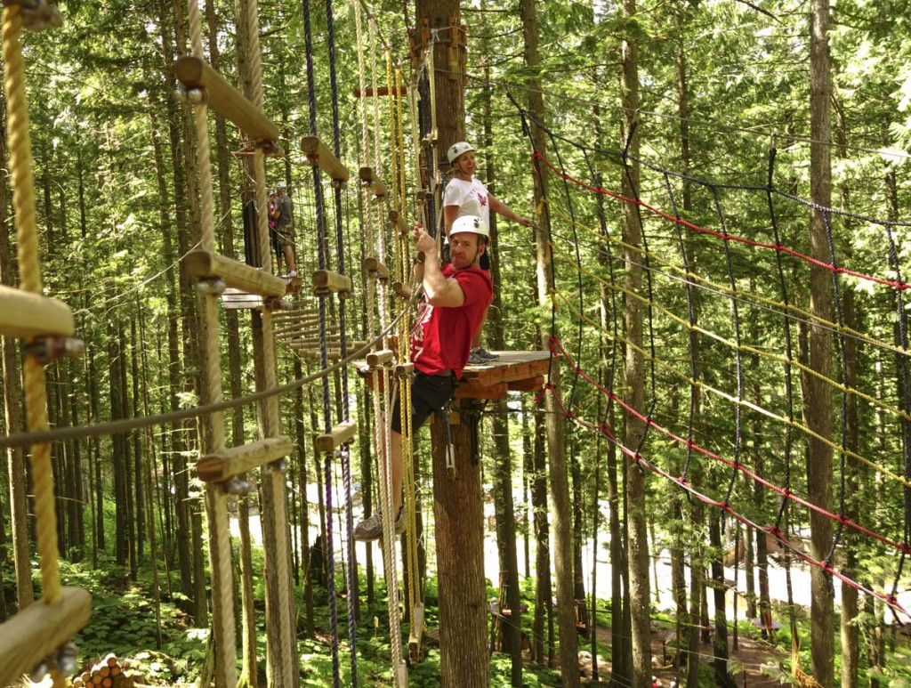 Revelstoke attraction: the Sky Course @ SkyTrek Adventure Park, an aerial adventure park for the whole family just outside Revelstoke, BC