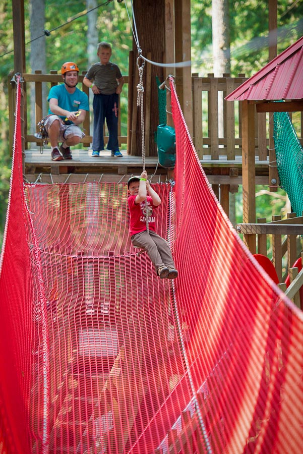 The Kids Jungle Gym @ SkyTrek Adventure Park, just outside of Revelstoke, BC