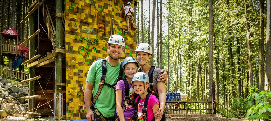 Fun family activities @ SkyTrek Adventure Park, just outside Revelstoke, BC
